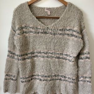 Forever 21 Gray Chunky Knit Sweater Pullover Small